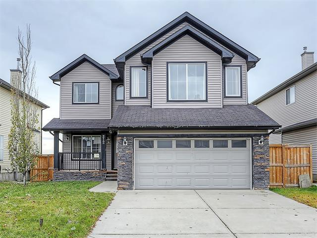 Easy commute to Calgary from this 2212 Sq ft  family home in Chestermere. Main floor has den/flex room, living room and kitchen with breakfast nook.  Upper level has a bonus room/family room and 3 bedrooms. The Master bedroom has ensuite bath.   Basement is undeveloped.  Double attached garage.  Home needs some work.  Golf, schools and shopping are close by.