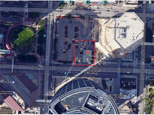 ***EXTREMELY  RARE Downtown Commercial Core land for sale*** PRIME redevelopment commercial core land across from The Bow building. Total 16,959 SF (0.39 AC) Located on busy 5th Ave for great access and exposure. Wide range of uses under zoning CR20-C20/R20 including commercial retail, residential, office, hotel, restaurant, financial institution, supermarket, medical clinic. Do not approach staff on property, viewing from outside only.
