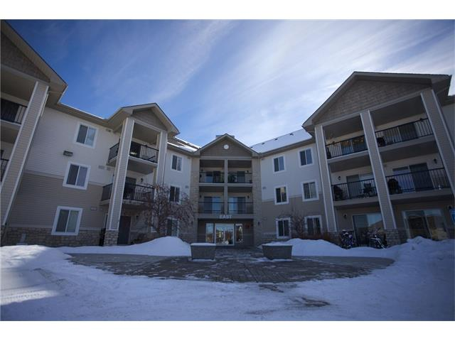 Here's a great opportunity to get into the market in the popular southwest community of Evergreen! This bright and spacious west facing unit with an open concept features a maple kitchen with plenty of cabinetry, counter space and a decorative tile back splash. The living room offers plenty of space for your home entertainment and leads to the large patio perfect for enjoying the summer sun. This unit also features in-suite stackable laundry, a four piece bathroom, large bedroom with plenty of closet space and a den that can be used as an office or additional storage. There is a parking stall included and ample guest parking for guests. All utilities (heat, water, electricity) are included with this low condo fee of only $218 per month. Located close to shops, schools, parks, public transit and quick access to Stoney Trail and the LRT make this a great place to call home! Call to view today!