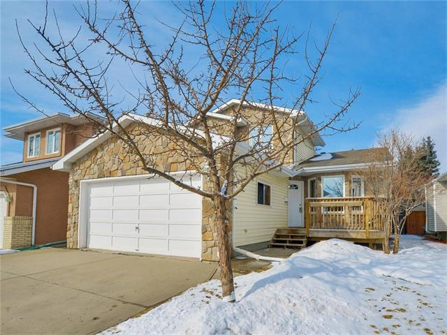 OPEN HOUSE SUNDAY MARCH 12 2-4pm.  Located on a quiet street and just steps to Carburn Park and the city pathways this great home boasts 1800 sq ft and a very functional floor plan. The main floor has hardwood and slate throughout, vaulted ceilings in the living room and dining room, oak kitchen with eating area, cozy family room with fireplace and patio doors to the large deck, a main floor den and laundry room. Upstairs features a good size master bedroom with double closets and ensuite and 2 additional bedrooms and the main bathroom. The basement is undeveloped and awaiting your ideas.  The backyard is fully landscaped and fenced.  The exterior front has been redone in stone and the roof and most of the windows have been replaced. Don?t miss out on the opportunity to own this great home in a great location!
