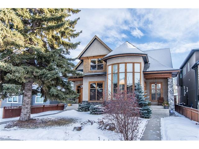 Timber Rock custom build this infill.  This was the Rolls Royce of infills back in the day.  Unique open concept main floor living space. Spectacular vaulted ceiling and 2 storey bowl window feature!  Harwood flooring and cozy fireplace with elegant wood mantel in the living room/ Dinning room area.  Kitchen features stainless steel appliances, breakfast bar and a pantry.  Fantastic location, south back yard allows lots of natural light.  2 huge master suite bedrooms up.  Lower level guest area is ideal for university aged children or AirBNB. Double detached garage. Fenced back yard. Put your own personal touches on this amazing valued home in this highly sought after neighbourhood of West Hillhurst.  Walk to all the trendy shops and restaurants on 19 St., Queen E School, Kensington and the river path system.