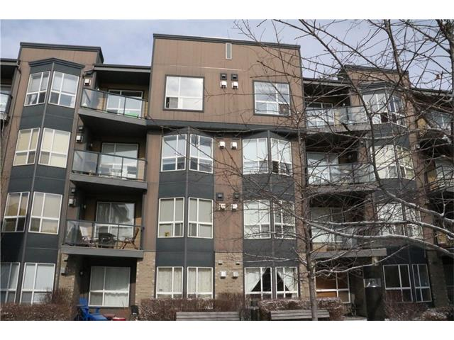 Fantastic opportunity to own this 2 bedrooms, 2 baths top floor unit w/ a private balcony, in-suite laundry & heated titled underground parking located across the street from shopping, coffee shops, public transportation, other major amenities & walking distance to popular Marda Loop. The living room comes w/ a fireplace & a door from the eating area to a private balcony w/ views of the surrounding area. The master bedroom features a 4 piece ensuite bath. Vacant for immediate possession.