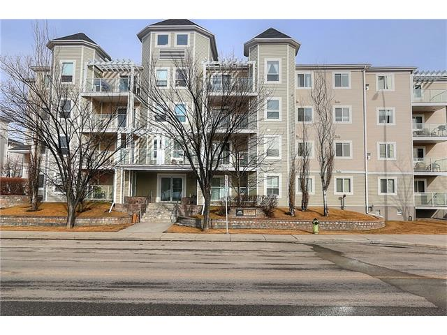 """One of the largest units in the complex, corner unit with windows west and south.. south patio with BBQ hookup.. Great location with C-Train across the street and all shopping within walking distance.. in this location, why own a car?.. This condo will allow a full dining room set, large living area with more than enough space. Spacious hall closet for storage including ensuite laundry, stacker included.. Large master big enough for a king sized bed, with full walk in closet and full bath.. 2nd bedroom is large too with closet organizers and double glass doors. To see a movie of this listing go to the most popular video website and search """"shawville corner"""" or click on the virtual tour link."""