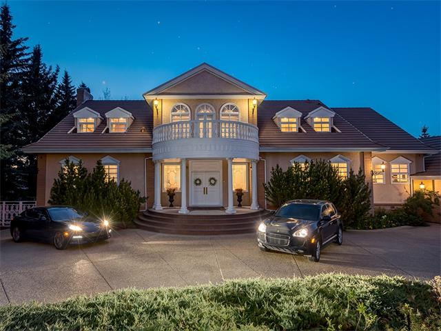 An exquisite property nestled in the prestigious community of Pump Hill. This 13,000 sqft home offers luxury and elegance, accommodating with 5 bdrms and 4.5 bthms. This rare find is just 10 mins outside of downtown, and features a stunningly landscaped & gated lot, which sits on just under an acre.  Upon entering this architectural masterpiece you will be greeted by a foyer that boasts cathedral ceilings and immaculate tile work.  This house features an impressive stone fireplace that will draw your attention up to the exposed wood beams, which seamlessly ties in the rustic woods in the room. You will also notice a recently updated kitchen complete with high-end appliances, transitioning into the formal living and dining rooms. Upstairs is a master suite perfect for retreating to after a hard day, along with a huge office, den and library. The lower level offers a wine room for a well-established connoisseur, a home theatre room, a gym and a hot tub. A truly exquisite property that is a ?gem of a find?.