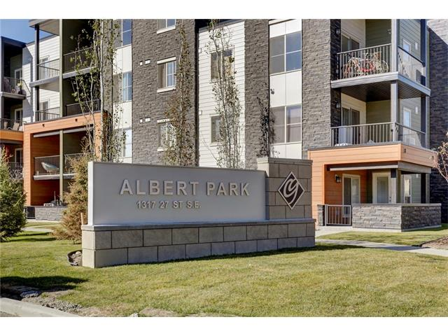 This end unit is priced to sell! This main level end unit plan is open and bright. The kitchen includes granite counter tops on the eating bar and stainless steel appliances! Master bedroom features a walk through closet to the 4pc ensuite with a good sized second bedroom right across from another 4 pc bath. The patio is a good size and with access off the kitchen is great for entertaining or for firing up the BBQ. With stacked in suite laundry, close proximity to parks, 1 underground parking stall, and easy access to deerfoot this unit is full of value. Albert park is just steps away, and with ample shopping up the road on 17th east the location is fantastic! Brand new, upgrades throughout, and ready for your personal touch! Pictures are from unit 3214 to show layout however clr schemes would vary from unit to unit.