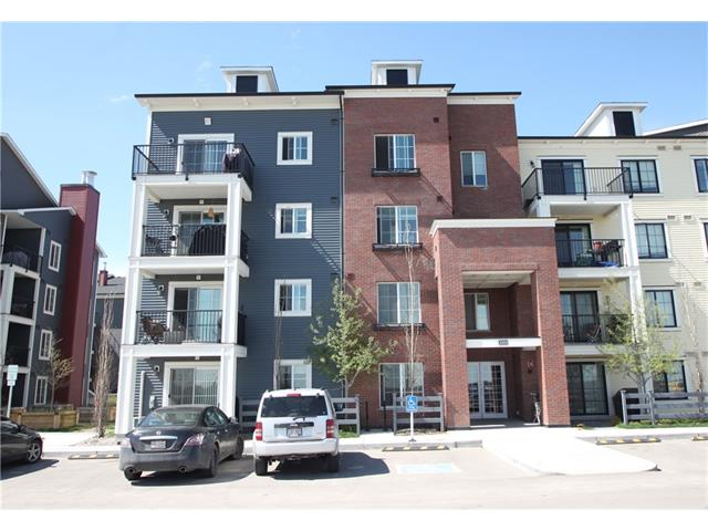Spacious, 565 sq ft one bedroom condo in Copperfield Park II featuring a nice, open floor plan with laminate flooring throughout the kitchen, dining and living area. The bright living room opens to an amply scaled balcony. Enjoy the beautiful, large kitchen with granite counter tops, stainless steel appliances, a built in pantry providing extra storage space, additional cupboards above the kitchen sink and a convenient island/breakfast bar. The adjacent dining area is big enough to accommodate your family gatherings. The master suite has a walk through closet, accessing the cheater bathroom with granite vanity. This immaculate unit comes with an in suite laundry, a titled parking stall, an underground storage, and is conveniently located close to shopping, bus stops and a playground across the street.