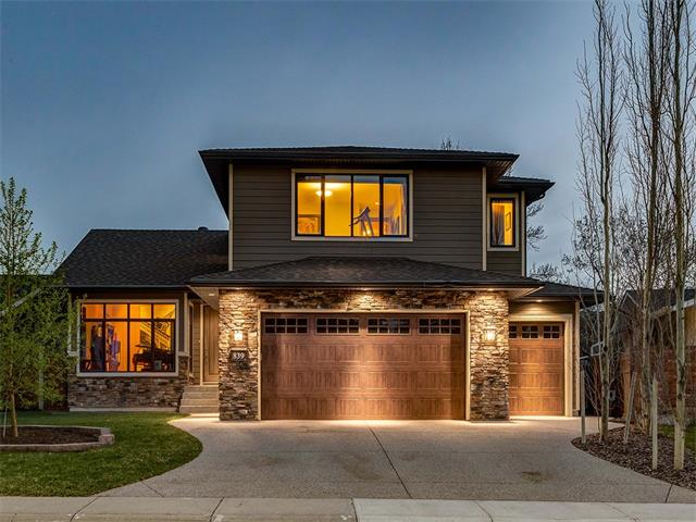 BEAUTIFUL CUSTOM BUILT home w/over 3785 sq ft of living space on a QUIET STREET facing a PARK + JUST STEPS to FISH CREEK PARK + CAFE in SOUGHT AFTER PARKLAND! FANTASTIC features + HIGH END finishings inc FULL A/C, 2 FURNACES, HEATED TRIPLE GARAGE, IN-FLOOR HEAT, 9 ft ceilings, HARDWOOD floors, HARDIE BOARD siding + stone exterior, CUSTOM windows + more! The SPACIOUS floor plan has a WELCOMING foyer, OFFICE, half bath, 3 WALK-IN closets + MUD rm w/BUILT-IN STORAGE. The OPEN CONCEPT living rm + dining rm share a BEAUTIFUL DUAL SIDED STONE FIREPLACE! STUNNING kitchen has HIGH END STAINLESS STEEL appliances inc GAS STOVE + WALL OVEN + GRANITE COUNTERS, ISLAND + CORNER pantry! Doors lead to the HUGE 44x11 ft SOUTH-WEST facing DECK + BEAUTIFUL YARD! Upstairs is a LAUNDRY rm w/SINK, 5 pce bathroom + 3 GOOD SIZED bedrooms inc the Master Suite w/WALK-IN closet + EN-SUITE w/DUAL SINKS + WALK-IN SHOWER! The basement is finished w/a BIG FAMILY rm w/GAS FIREPLACE + WET BAR, 4 pce bathroom + 4th BEDROOM! View today!!!