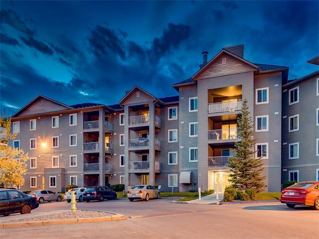 SUPER CUTE 2 bedroom condo w/over 822 sq ft of LIVING SPACE in the POPULAR IRON HORSE complex! INCREDIBLE VALUE here + TONS of features you will LOVE inc CLEAN, BRIGHT + MOVE-IN READY, HARD-WEARING LAMINATE flooring, SPACIOUS LAYOUT, IN-SUITE LAUNDRY, ACROSS from the ELEVATOR, GREAT BALCONY, ASSIGNED PARKING STALL + FRESHLY PAINTED! The WELCOMING foyer has a storage closet + LAUNDRY rm + leads to the OPEN CONCEPT dining area, GORGEOUS kitchen w/TILE BACK SPLASH, CLEAN WHITE cabinetry + MATCHING WHITE appliances! The LARGE living rm has doors leading to the BIG BALCONY w/VIEWS over the complex! 2 GREAT SIZED bedrooms both w/LARGE CLOSETS + 4 pce bathroom w/TILE flooring! CLOSE to AIRDRIE's MANY SHOPS, BARS + RESTAURANTS + QUICK ACCESS to DEERFOOT! AMAZING VALUE, a GREAT BUY - A MUST VIEW!!!