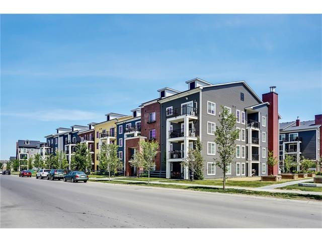OPEN HOUSE: Aug 26th 3-5pm. TOP FLOOR unit with 2 bedrooms, 2 Bathrooms & 2 Titled Parking Stalls! Here?s your chance to live on the top floor with plenty of upgrades at Copperfield Park. This unit has an open concept and features 9? ceilings, granite counter tops with under mount sink, stainless steel appliances and dark maple kitchen cabinetry with a tile floor in the kitchen. The living room is spacious and leads to the balcony which offers plenty of sunlight, ample room for patio furniture and a gas line for the bbq. Separated by the living room, the 2 bedrooms are generous in size and feature walk through closets and have direct access to 2 separate 4 piece bathrooms with granite counter tops. Other highlights include modern lighting fixtures and hardware, front loading washer and dryer, ceiling fans and a storage unit in the parkade. Located across the road from a large park, down the road from shops, quick access to transit, Deerfoot and Stoney trails and a short drive to 130th Avenue.