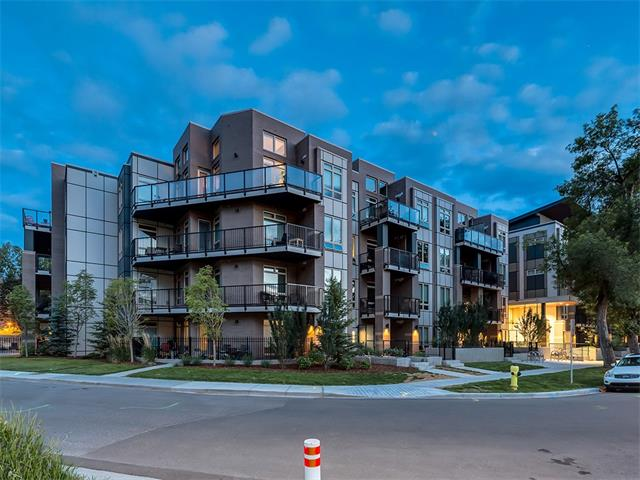 Super MODERN TOP FLOOR condo in popular SUNNYSIDE w/ absolutely STUNNING DOWNTOWN VIEWS!! This Impressive condo has 14 FOOT CEILINGS, QUARTZ counter tops, Stainless Steel appliances, HARDWOOD floors, UNDERGROUND parking, CAR WASH bay, separate storage locker & bicycle storage. WOW!! All of this + walking distance to KENSIGNTON, DOWNTOWN and the LRT. Welcome to VEN in Kensington. This TOP FLOOR condo has a open concept design which is perfect for entertaining, The 'U' shaped kitchen offers a GAS range, quartz counters, high end Fisher and Paykel Stainless steel appliances & lots of cabinet space. The master bedroom offers a large walk through closet and UPGRADED ensuite bathroom w/ TILE floors, soaker tub, glass shower & large GRANITE vanity.  This stunning condo is sitting in a sought after location on a quiet street w/ close access to the LRT & a multitude of pubs, cafes, grocery stores & everything else Kensington has to offer + walk to downtown! Call for your private viewing today!!