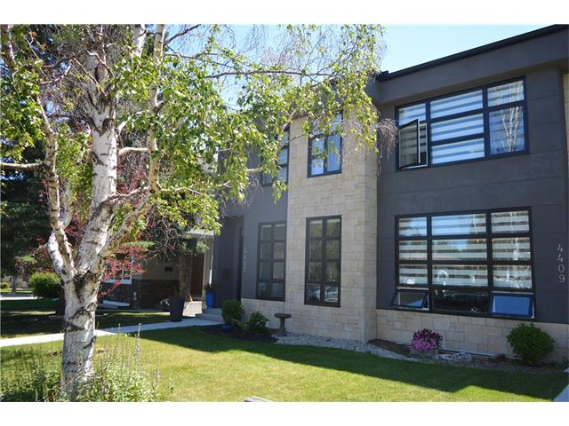 Welcome to a modern, contemporary infill located in the heart of Glenbrook. This home has it all! High end finishings throughout. Open kitchen with large dining room at front of home. Huge granite island with beautiful cream cabinets. SS appliances + wine fridge. Large living room with gas fireplace. French doors opening to a large south facing deck which accommodates many guests. Basement completed in 2017. Has large bedroom, full 4-piece bath, and media room. Ample storage under stairs and in mechanical room. Upper level has laundry with built in cabinets. 2 kids bedrooms with south exposure. Master is rather large with walk-in closet. Has 5 piece ensuite with granite counter tops and dual sinks. large soaker tub and walk-in shower + skylight. Home has quick access to 33rd ave and 5 min drive to c-train. 10 min to Downtown!