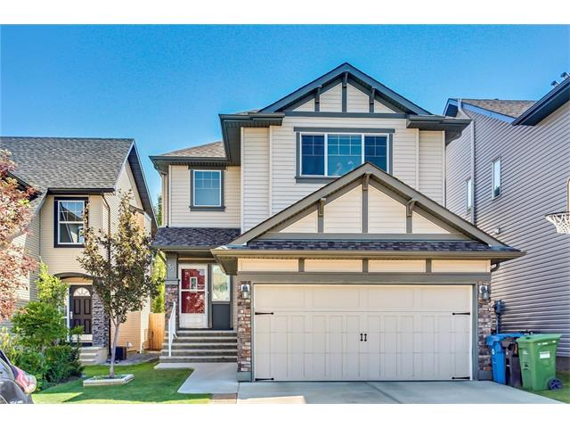 Location, location, location!  On a quiet cul-de-sac, steps from a greenspace and just a short walk to Holy Child School (K-9) opening Fall 2017.  The open concept main floor boasts 9 ft ceilings, tile, great room with gas fireplace, dining area and kitchen with dark cabinets, island, granite, stainless steel appliances and a walk thru pantry that leads to the garage and laundry area.  Upstairs has a large and bright bonus room with vaulted ceilings, master bedroom with walk in closet and ensuite with separate shower and soaker tub and 2 additional great sized bedrooms and the main bathroom. The South backyard is fully fenced and landscaped and has a very private deck.  This home also has air conditioning which is great for the hot summer days.  Great location - close to schools, the Silverado Marketplace and just a quick drive to the shops, restaurants and public transit in Shawnessy!