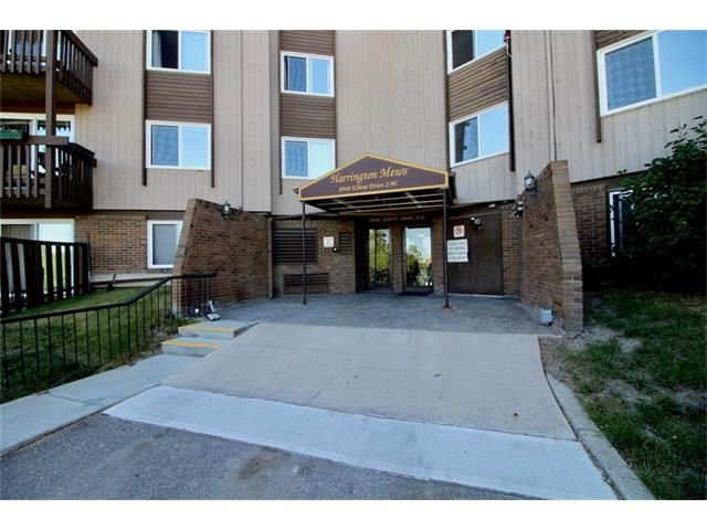 Price reduction! Come and see all this condo has to offer! Amazing Hays Farm location, backing on to the nicely landscaped interior park and only steps away from the outdoor pool and rec center. This quiet main level suite offers bright, large rooms, newer laminate flooring and an in suite washer and dryer.(Most units have to use the common laundry area).Windows and large patio doors have recently been replaced. Close to all amenities, Chinook mall, and an easy walk to Heritage c-train station make this a very desirable neighborhood . Come and enjoy a maintenance-free lifestyle in a well run complex.