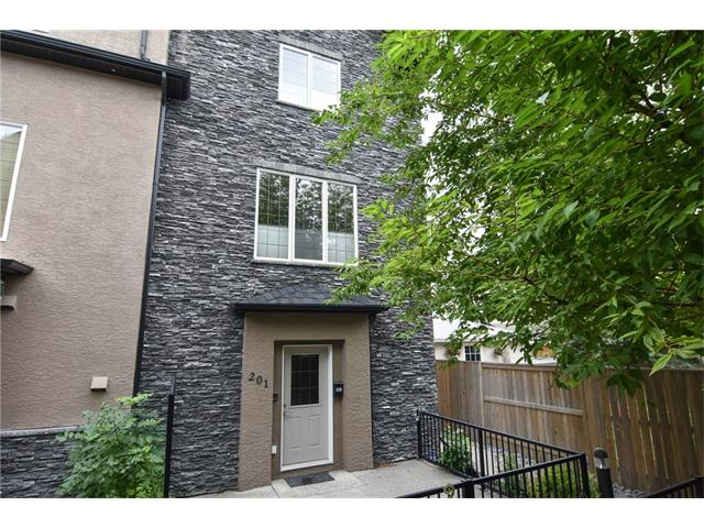 PLEASE CHECK SUPPLEMENTS FOR IMPORTANT MEASUREMENT INFORMATION !! Also See Virtual Tour. This is your chance to own this beautiful two bedroom town house style freshly painted condo 20 minutes walk to down town. The lower entrance features the utility room under stairs storage a closet and your own access to the attached garage. The stairs leads to a very nice open plan living area with everything you need. Full kitchen with stainless appliances gas stove and granite counters. Well planned office nook, dining area and then the living room area with gas fire place and TV stand and two piece bathroom. From the kitchen you can enjoy your own balcony with gas hookup for your barbeque. The big windows on three sides of this floor provides lots of natural light. The stairs to the top floor leads to a huge master bedroom with walk in closet and a five piece Jack and Jill bathroom. A good size second bedroom and the upstairs laundry complete this great quiet living space. Quick possession possible call me now!!