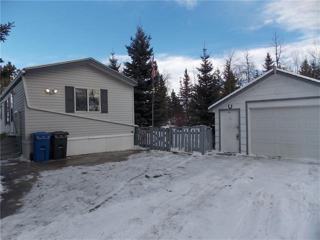 Wow!  Fantastic opportunity for first time home buyer or Seniors.  This two bedroom immaculate home is situated on a very large mature lot in a quite cul-de-sac.  Open floor plan allows for the conversation to flow easily from living room, dining area & kitchen.  Kitchen has oodles of cabinets, counter-tops & is open & airy with all of the well placed windows.  Master bedroom with large double closet & cheater door into the bathroom.  The opposite end of this home features the other bedroom so privacy for everyone!  Outside you are sure to enjoy your wonderful west facing deck that is well shaded with plenty of trees.  The back yard certainly has room for everyone & everything...it is large!  On top of all of this there is a 16X28 garage perfect for storage & projects as well as a hard surfaced drive-way to place the RV onto.  This home is a fantastic set-up for anyone with mobility concerns.  Bowden is an easy commute from Olds, Innisfail, or Red Deer! This is a must see...call to view today!