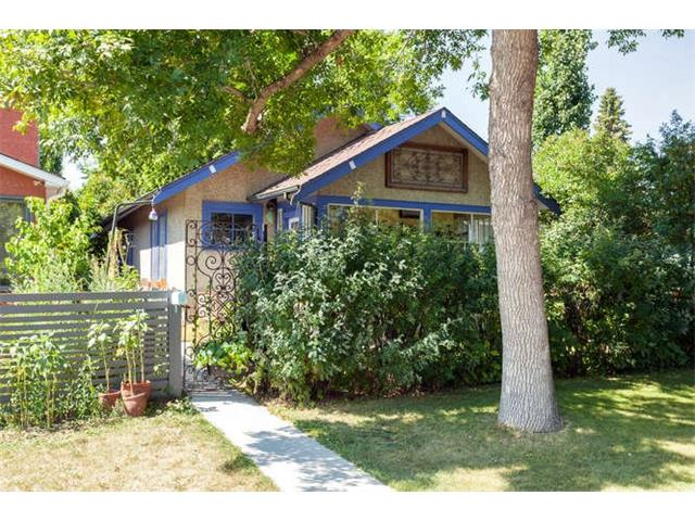 This is the perfect character house you have been waiting for! Charming inside and out!  Located on a no-through street, 1/2 block from Confederation Park & bike paths, you can't beat the location!  Built in 1912, there have been many upgrades throughout the years, offering someone a lifestyle of small & quaint, yet functional & modern living. The space is well laid out, with 2 bedrooms on the main floor, a full bathroom, living room & kitchen - with a gas stove! Original, gleaming hardwood flooring! The lower level has been developed with another bathroom, laundry, and a living room area, which could easily be used as a 3rd bedroom. The spectacular yard & landscaping offers a tranquil and peaceful space in the middle of the city. Many shrubs, perennials, a fish pond/fountain, treehouse, firepit...you have to see it to believe it!  Escape from your busy day in the back yard!  This is really a unique property, needs to be viewed to be fully appreciated. Welcome Home!