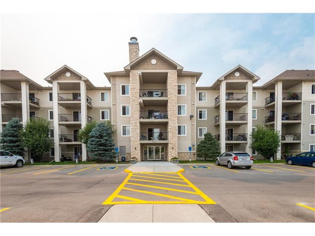 Here is a great condo located in a quiet complex and just a short walk to all sorts of amenities in Cimarron. Its not easy finding condos this big at this price point and this one also includes two parking stalls (one titled in the parkade, #23, and one assigned surface stall, #55)  The master bedroom features a walk through closet into your 4 piece ensuite and the secondary 4 piece bathroom is right off of the other bedroom. The kitchen has loads of cabinetry and counter space and opens up into a large living room with huge balcony that you can enjoy your morning coffee or evening night cap. Yes, the condo fees are higher than average but please note all the things that they include. Even your tv is included! Buyers please note that the seller smokes on the deck and so you can smell this in the unit. We want to acknowledge this up front and offer a $1000 cash back on close to put towards having a professional come in and take care of the smell. Great unit at a great price. Well worth viewing!