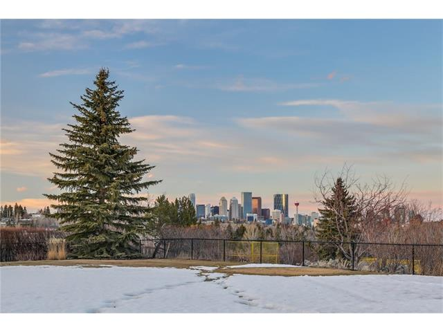 A TRUE LEGACY PROPERTY. THE LARGEST LOT IN ALL OF BRITANNIA...over 22,300 ft2 (85' wide with an average depth of 263'). An unbelievably beautiful + pastoral setting on a promontory that backs directly onto escarpment parkland. THE VIEWS ARE STAGGERING with a 180 degree panorama that includes the DOWNTOWN SKYLINE AND THE ELBOW RIVER VALLEY. INCREDIBLY PRIVATE...it's amazing that such an environment exists just minutes from the downtown core + walking distance to Britannia Village. NOTABLE MID-CENTURY ARCHITECTURE which takes good advantage of the site and views. It has been respected but also TOTALLY UPDATED, RENOVATED AND MODERNIZED. It offers a wonderful open plan with large principal rooms, striking modern kitchen, sparkling new baths and tranquil bedrooms.  Deluxe garage. At the end of the day, this is ONE OF THE MOST REMARKABLE PROPERTIES IN THE CITY and the buyer can choose to enjoy it in its current form, expand it or build new and create their ultimate dream home.