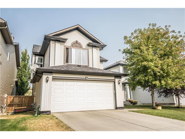 **OPEN HOUSE SAT SEPT 23 & SUN SEPT 24 from 2:30PM - 5:00PM** Fabulous family home close to playgrounds & schools! You're greeted by a spacious private tiled foyer through to an open concept kitchen with a welcoming family room featuring; a corner fireplace, gleaming hardwood floors, walk in pantry and a large eating nook. Heading upstairs is a Durable chic carpet, huge sunny vaulted bonus room, three large bedrooms with a stunning display/book shelf unit included in 2nd bedroom. Master bedroom boasts a walk in closet and 4 piece ensuite. Basement is unspoiled but very functional for family fun! Huge backyard with grand deck, ideal for entertaining! Other great features include shelving in the garage & central air conditioning.  Watch the video for more!