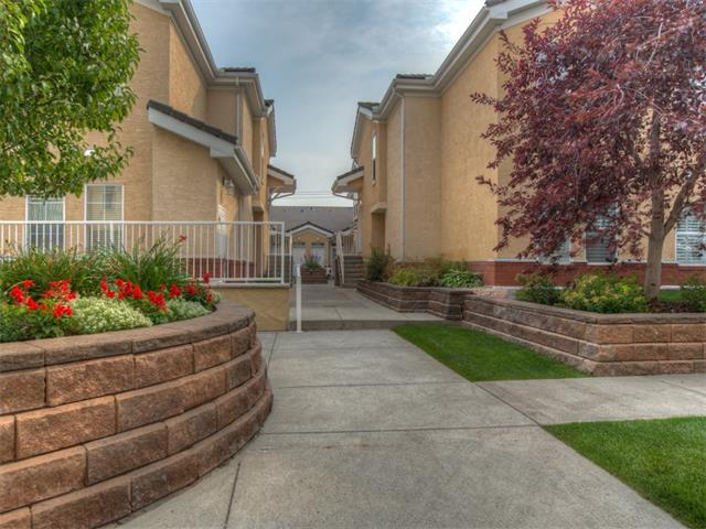 Great value in this lovely, 2 bedroom + den, bungalow end unit, in Beacon Hill! A fabulous location in the complex combined with an inviting, open floor plan featuring, neutral colors, beautiful hardwood flooring and extra windows adorned with shutters, make this the perfect home. Incredible living space comprised of a large living room with cozy gas fireplace open to a spacious dining room and kitchen, complete with updated countertops, eat up island and black appliances. The master bedroom is complimented by a huge walk-in closet and 4 piece ensuite. The guest bedroom includes a functional wall to wall built-in computer/work desk. Enjoy a private, sunny, west facing patio with gas barbeque hook-up, ample in-suite storage, storage locker and 2 titled, underground parking stalls. Excellent complex amenities include guest suites, hospitality and fitness rooms, workshop and car wash. A great location! A wonderful place to call home! Please note: home is below grade, in part by 1.12 ft. or .34 metres.