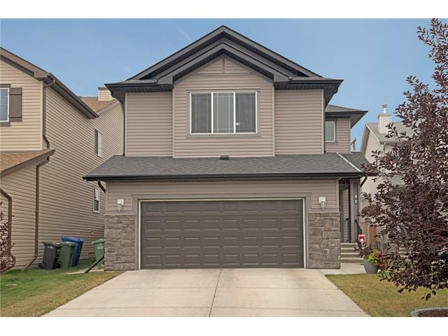Outstanding value in this 2 storey home that is close to the best of Okotoks? shopping. Plenty of curb appeal here with the elegantly landscaped front border. An open to above entrance welcomes you into this very practical floor plan. The living room has an attractive gas fireplace & the wall mount for the TV & the custom surrounding storage units stay. The kitchen has an upgraded stainless steel gas top stove & French door refrigerator, a corner pantry & a raised breakfast bar & is open plan with the large dining nook. Upstairs, you?ll find a large master bedroom with a ceiling fan & a 5 pc en-suite. You?ll love the wide open views to the south. The 2nd & 3rd bedrooms are good  sizes, one has a walk in closet & both share the 4 pc family bathroom. The large bonus room completes this level. To the rear is a large, fully fenced yard with a massive, private deck that has a pergola. Maturing trees line the rear of the yard. You?ll also appreciate the oversized double attached garage! Come take the 3D TOUR!