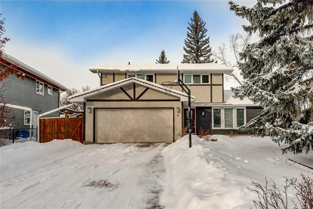 """If """"EAST VARSITY VILLAGE"""" is your desire then this home could be it! Calgary's top community as voted by Avenue Magazine for 2017! This 4-bedroom up 2-storey situated on a quiet cul de sac; walking distance to the U of C, Brentwood C-train station, & Children's hospital. A majority of the home has been updated over the years. The kitchen was done ~10 years ago & has granite countertops, a large island, custom cabinets & SS appliances. The flooring is a cork that is soft on your feet. Off the kitchen there is a cozy living room w/ built in cabinetry, a gas fireplace, wired for cable. Plus, entire main floor has surround sound. French doors exit to a 2-tier deck that's private. Main floor laundry off the family room. The upper level has 4 bedrooms (rare I know) that are suitable for a larger family. The master is big & has walk-in closet, and a 4-piece ensuite. (dual sink). Both bathrooms were completely updated ~5 years ago. Other renovations incl: 2 newer furnaces, new roof, maintenance free windows."""