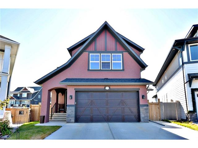 Wow! Reduced 25k!One home away from the lake with private access on a cul-de-sac! Your new executive home boasts many upgrades and an oversized lot. Upgrades include granite counters, stainless steel appliances, hardwood floors, huge center island, Dual microwave/second oven, wired for surround sound, HUGE walk in closet, steam shower and two person tub in master bathroom, media room, gas barbeque line and firepit, outdoor speakers, shed, vaulted ceilings and gas range. Lots of parking with extended driveway. Basement is fully finished with 9 ft ceilings, media room, wetbar, full bathroom and extra bedroom. Great location. Lake access includes free boat rental, kayaking, fishing, skating and hockey, firepits, picnic and barbeque sites, splash park and playgrounds, gymnasium and event space. Award winning community. Must be seen, call realtor today!