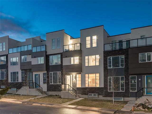 OPEN HOUSE SAT FEB 24, 1-3 A Luxury townhome development w/ Over 1685 Sq.Ft. of BRAND NEW development w/GORGEOUS SOUTH ROOFTOP patio & HEATED UNDERGROUND parking. Tucked away on a quiet street by a kids playground & minutes to Marda Loop & 17th AV! Featuring a large open concept main w/BEAUTIFUL HARDWOOD throughout, 10? ceilings, spacious living rm, dining nook & Chefs kitchen complete w/white cabinetry, S.S. appliances including gas range, TILE backsplash, GRANITE counters, large island & upgraded lighting! The 2nd floor offers 2 large master bedrooms w/Walk in closets & STUNNING 5 pce ensuite w/TILE shower, soaker tub & dual sinks! The 3rd level has a 3rd bed & bath or can be used as a office & provides access to the SUNNY SOUTH ROOFTOP patio! Many feat. you will love like UNDERGROUND parking w/direct access to your home & storage in the basement! Take advantage of this AMAZING location only 5 minutes from downtown! QUICK POSSESSION available or CUSTOMIZE it the way you want. NEW HOME WARRANTY INCLUDED!
