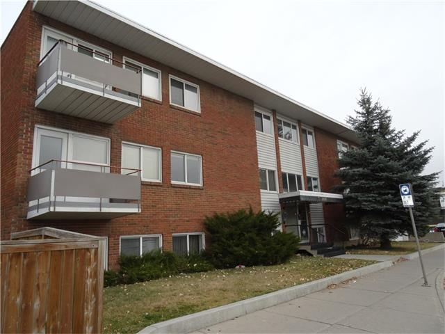 Fantastic location for access to SAIT, University, Foothills and Children's Hospitals, walking distance to 2 LRT Stations and kiddy corner to North Hill Mall.  This is the nicest location in this small concrete building...top floor corner unit on the quiet side of the building with lovely west views overlooking green space. This 2 bedroom unit is very bright and spacious and features newer vinyl windows and in suite laundry. It does require some redecorating but has a charming vintage vibe!  Nice sized balcony, assigned parking and large storage locker.  This is a great property at this price point!!