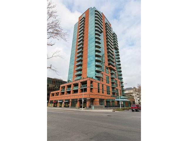 Enjoy life high in the sky! Located on the 10th floor of the desirable Emerald Stone building, this SE corner unit offers great views from its ceiling to floor windows. With 2 bedrooms, 2 full bathrooms, in suite laundry, titled underground parking and additional storage outside of the suite, it is the complete package. Recent upgrades include granite in the kitchen and bathrooms and stainless appliances. This home has been meticulously maintained and is move in ready.  Some of the building amenities include a golf simulator, exercise room, games room, party room and air conditioning!  Centrally located in the Beltline, a quick walk will get you to work, some of Calgary's best restaurants and of course a great night life!  Live the easy lifestyle being so close to everything! Emerald Stone has become an iconic building in Calgary, with its distinctive look, great location and good reputation.