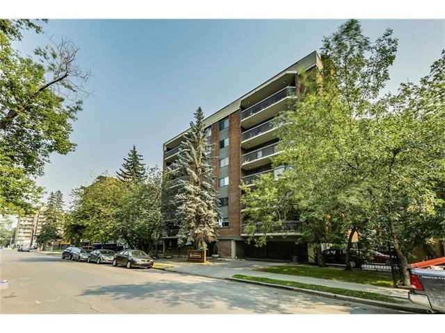 A three bedroom condo with over 1400 square feet in the beltline with just a quick walk to downtown and surrounded by Calgary?s trendiest restaurants and shops on 17th avenue and on 4th street! Highlights of this open concept unit with a sunny, southern exposure include laminate floors, a newer kitchen with built-in wall oven and counter top stove, heated marble floors, gas fireplace in the living room and 2 balconies offering outdoor living space. Other features include a breakfast eating bar, stylish subway tile back splash in the kitchen, large dining area perfect for entertaining, generously sized bedrooms with plenty of closet space, storage room with insuite laundry and central vac. This unit also comes with an underground, titled parking stall with a storage unit as well as a covered surface parking stall for a second vehicle. Don't miss the views on the roof top patio and take a stroll around the neighbourhood offering a mix of parks and trendy shops.