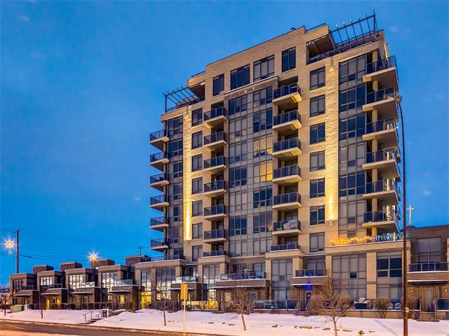 LOCATION, LOCATION, LOCATION!!! BREATHTAKING DOWNTOWN + FISHCREEK VIEWS w/this IMMACULATE 2 bed + 2 bath 6TH floor CORNER UNIT condo in the sought after HIGHBURY TOWER! You will appreciate the SECURE + UNDERGROUND TITLED PARKING Stall + TITLED STORAGE UNIT close to ELEVATORS ACCESS! This UPGRADED unit w/A/C features a SPACIOUS OPEN CONCEPT layout including a GORGEOUS kitchen w/PENDANT lighting, SOFT CLOSE cabinets, QUARTZ counters, DUAL DOOR DISHWASHER + TOP OF THE LINE SS appls including a GAS RANGE! The formal Living + Dining rm's are FLOODED w/LIGHT from the FLOOR TO CEILING WINDOWS which allow you to CAPTURE the VIEWS from every angle! The LUXURIOUS Master includes a WALK-THROUGH CLOSET, 3 piece EN-SUITE complete w/TILE SHOWER + VESSEL sink. This CONTEMPORARY condo is LIGHT, BRIGHT + incl: in-suite LAUNDRY w/additional storage, + a MASSIVE 126 SQ FT BALCONY w/gas hookup + AMAZING DOWNTOWN/FISHCREEK VIEWS! TRULY a PERFECT location for the DOWNTOWN Professional only STEPS TO THE C-TRAIN + SHOPPING!!!