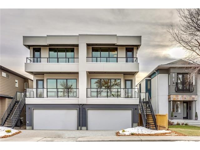 OPEN HOUSE SATURDAY JULY 21 2-4PM* This is a unique opportunity to own a gorgeous executive home in one of Calgary?s most coveted inner-city neighbourhoods. Thoughtfully conceived by Phase One Design & meticulously executed by Maillot Homes, this home is located across from the park & offers views of the city skyline. The main level features a generous great room and dining area accented by gorgeous wide-plank engineered hardwood and 10? ceilings. The kitchen boasts a large quartz countered island and walnut cabinetry. Maillot offers an outstanding professional appliance package including Subzero, Wolf & Asko. Completing the main floor is a private office/den. Upstairs, the master suite offers sweeping views of the park & skyline. The ensuite and walk-in closet leave nothing to be desired with luxury finishing such as Brizo, Grohe & Rubi.  The lower level offers a 4th bedroom, 4-pc bath, family room, and walk out access to the south-facing yard. The oversized attached garage makes coming & going a breeze.