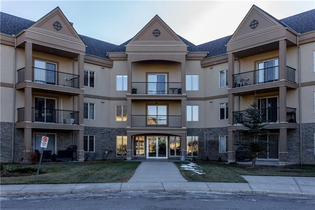 This unique condo has no neighbors on either side! Have you ever thought of living in a home that has its own pool table, workout room with sauna and hot tub & movie screening area? This main level unit is bright, open & well maintained. Comes with titled underground parking spot just steps from the door and just enough storage. The super one bedroom plan has a warm, functional kitchen, a big living and dining space which is open to a bright and sunny private patio. The bedroom is large with a walk in closet and large lovely windows. The home has a good sized bathroom and in suite laundry. The complex offers amenities like a car wash and lots of visitor parking. Natural gas hook up for your bbq too! It is located steps for the shops of Cranston and is easily assessable to Deerfoot and Stoney trail. This is truly a lifestyle home and worth a look. No maintenance, quiet neighbours and a great locations. Only 2 blocks from Fish Creek Park.