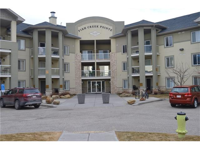 INVESTOR OR FIRST TIME BUYER ALERT!...this is the most affordable & well priced unit in the SW with underground titled parking! Priced well below assessed value. Why rent when you can own your own place! Top floor unit with tile floor in front entry, kitchen & bathroom, in suite laundry with storage. Large private covered southerly facing balcony. Complex backs onto Fish Creek Park & is close to the Marshall Springs Entrance to the park with an abundance of walking & cycling paths.  Condo fee includes all electricity, heat, water & sewer. Underground Parking stall #68