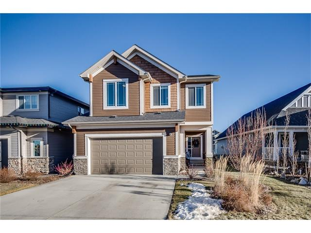 Welcome to the sought after Soul 2 model from Calbridge in the beautiful community of Sunset Ridge, located just steps to Ranche View School, playground & paths. This former showhome is immaculate & comes loaded with all the upgrades! Some of the features inc central a/c, surround sound throughout, underground irrigation in front & back, upgraded lighting, central vac, closed circuit security cameras, fully finished garage, 9 ft ceilings on main & upper along with extra windows & granite throughout. Stunning gourmet kitchen wth granite counters, massive centre island & stunning hardwood floors. Feature fireplace with custom mantle, generous dining nook with sliding doors to large backyard, spacious walk in pantry & mudroom complete the main level. Upper floor offers a large centralized bonus room with custom built ins, built in office area, spacious laundry room with sink, 4 pc bath & 3 bedrooms inc the expansive master suite with foyer, walk in closet & 5 pc ensuite with granite counters.