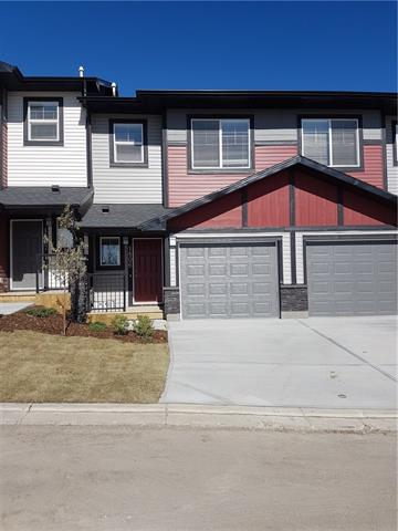 AMAZING VALUE combined with a functional and convenient floor plan located in the desirable community of Jumping Pound Ridge in Cochrane! The popular Sagestone model features an open concept main floor plan with 1/2 bath, 9' knockdown ceilings, laminate flooring, sleek stainless steel appliances, washer, dryer and even window coverings! Beautiful grey bark kitchen cabinets with soft close doors and drawers with all counter tops featuring a sharp white quartz. The bright and open living area with dining room leads to the outdoor space featuring your own fenced in yard with an East deck complete with gas line for your BBQing pleasure. Upstairs you will find 3 generously sized bedrooms including the master which is equipped with a full ensuite bath and a large walk in closet. This Townhouse also includes a single attached garage. Come and see everything offered here at Jumping Pound Ridge in Cochrane. *SHOWHOME HOURS 2-8 Mon-Thurs Sat/Sun 12-5* Builders reg size =1137 sq ft/ RMS Size = 1068 sq ft