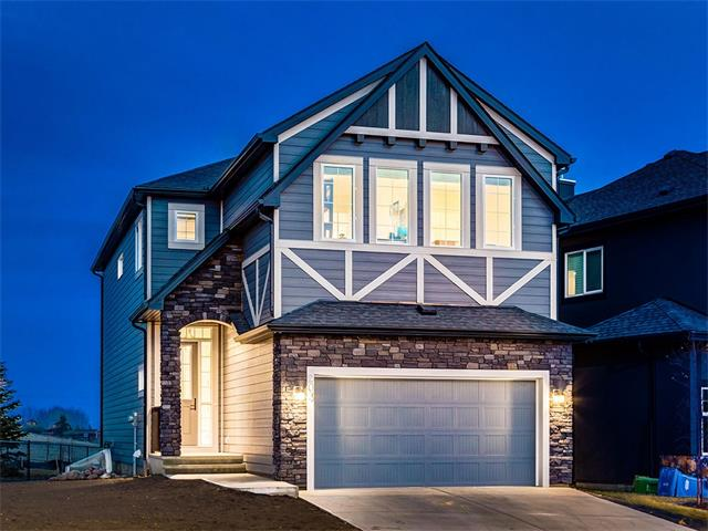 GORGEOUS 2017 NEW BUILD w/10 YR WARRANTY + OVER 2442 sq ft of UPGRADED living space located in ESTATES of RANCHERS RISE + BACKING ONTO GREEN SPACE, STEPS from PARK + PATHWAYS, QUICK access to HWY 2 + AIR RANCH AIRPORT! UPGRADES GALORE! Hardwood flr's, 9' KNOCKDOWN CEILINGS, HANDY Upper LAUNDRY, UPGRADED lighting, NEUTRAL DECOR throughout + MORE!!! BRIGHT Foyer w/storage, BIG 2pc bath, FINISHED to BELOW staircase w/WOOD + METAL railing, STUNNING KITCHEN w/FULL height CREAM CABINETRY + UNDER LIGHTING, GRANITE ISLAND + counters w/ELEGANT PENDANTS, S.S. APPL's  incl GAS stove + WALL OVEN, LRG WALK-THRU Pantry to MUD ROOM w/BUILT-IN's + BENCH! COZY Living rm w/MODERN STONE GAS F/P, SUNNY Dining rm w/LRG WINDOWS + access to RAISED DECK w/GAS BBQ hookup! SPACIOUS Upper w/BONUS/FAMILY rm, 4 pc bath, LAUNDRY rm + 4 bdrm's W/MOUNTAIN VW's incl the Master w/5 pc EN-SUITE w/AWESOME SOAKER tub + GLASS SHOWER w/BENCH w/LUXURY MARBLE style TILE , DUAL VANITY + LRG W.IC! PLUS- O/S H2O TANK, POWER HUMIDIFIER + O/S GARAGE!