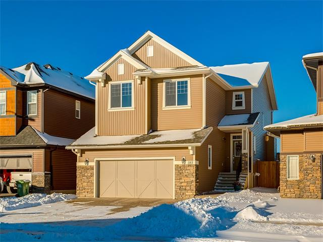 Exceptional Trico built family home in the desirable community of Heritage Hills in Cochrane! Your new home welcomes you with an open floor plan, ample natural light, and hardwood floors. The spacious foyer leads you into the kitchen which boasts a central island w/ breakfast bar, granite counter tops, SS appliances and pantry. The kitchen flows into the dining area with space for a good sized table and access to your back deck. The living room centers around a stone mantle fireplace and provides plenty of space to entertain. A good sized den and 2p bath complete this level. Upstairs the bonus room spans the width of the house and features a vaulted ceiling. The master suite is an oasis with mountain views, a walk-in closet and a large 5p ensuite including a corner soaker tub, his & her sinks and stand up shower. 2 additional generously sized bedrooms, a 5p bath and a convenient upper floor laundry room w/ storage complete this level. (See Addtl Public Remarks)