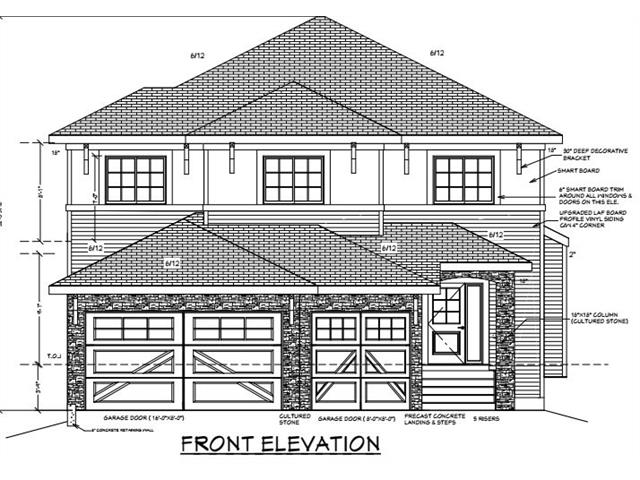 PROMINENT BUILT 2 STORY UNDER CONSTRUCTION, IN ESTATE COMMUNITY OF KINNIBURGH IN CHESTERMERE. 2512 SQ. FEET ON TWO LEVELS + UN - FINISHED BASEMENT (WALK OUT!!!) WITH  LOT OF WINDOWS AND CAN BE DEVELOPED BY THE BUILDER. THIS HOUSE OFFERS A LOT OF UPGRADES. MAIN FLOOR OFFERS DEN / BEDROOM,  BATH, BEAUTIFUL KITCHEN AND LARGE FAMILY ROOM WITH FIREPLACE AND A HUGE DECK. BEAUTIFUL STAIRCASE GO TO UPSTAIRS, OFFERS SPACIOUS 4 BEDROOMS AND A GOOD SIZE BONUS ROOM. MASTER BEDROOM HAS A 5 PIECE EN-SUITES AND A BIG WALK-IN CLOSET. TRIPLE FRONT GARAGE IS INSULATED AND DRY-WALLED. THIS COMMUNITY HAS NEW K - 9 SCHOOL AND HEALTH CENTER. 25 MINUTES DRIVE TO DOWNTOWN OR AIRPORT.