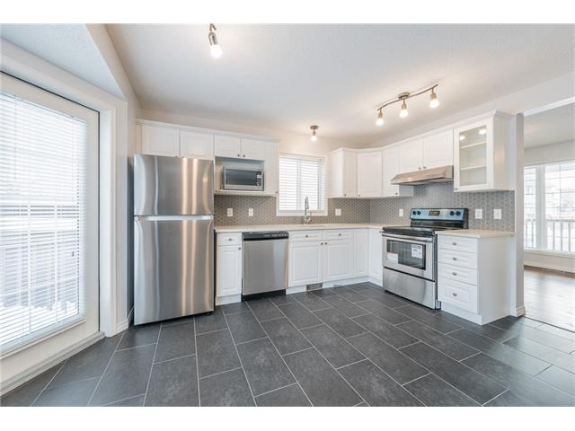 This beautifully renovated and fully developed home located on a quiet street in the family-orientated community of Douglas Glen. Steps away from the community park, tennis court and bus stops. Walking distance to the Douglas Square commercial center, Quarry Park, Remington YMCA, future LRT station, Fish Creek Park and the Bow River pathways. The upgraded house has new paint for all the wall, doors, and the trims, new blinds, new toilets and new LED light fixtures on all three levels. Open concept main floor has new laminate floors, new ceramic tiles, new laundry sets, all new stateless steal appliances, newly finished kitchen cabinets with quartz countertop and the under mount sink. There are 3 big bedrooms with new carpet and 2 full bathroom with new quartz countertop including the maser suite on the upper floor. Developed basement features a 4th bedroom or office and a large rec room. Over 1725 sqft developed living space in total! This house is move in ready and a must see! Book your showing today!