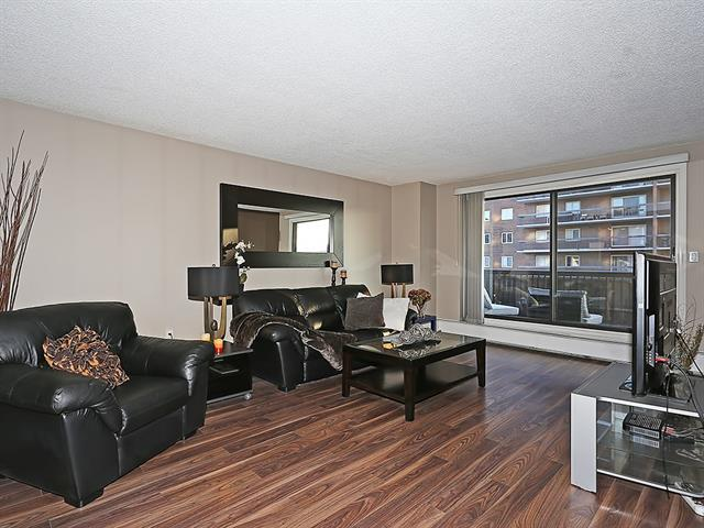 If you?ve been waiting for a great deal on a fantastic space in the Beltline - this is it! This South facing condo located on the 3rd floor with 2 bedrooms, in suite laundry, over 900 sq ft of living space, also has underground titled parking. Located just blocks from all of the amenities, shops, and restaurants that the Beltline and trendy 17th Ave have to offer. With a private front entrance, this condo then transitions into an open concept dining space great for all of your Holiday and Seasonal entertaining. The kitchen is light and bright with ample cupboard space and features a large cut-out to connect the room with the living space. The bright living room features laminate floors and a neutral palette and leads to the over-sized sunny South facing patio space; great for soaking up those Summer time rays. The two bedrooms are a good size and are located next to the 4 piece bathroom. In-suite laundry with storage complete this fantastic space. Call your favourite Realtor today to book your showing!