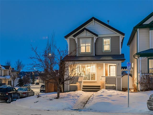 BEAUTIFUL, MOVE-IN READY home w/OVER 1794 sq of developed living space on HUGE 374 sq mt PIE SHAPED, CORNER LOT in a quiet CUL-DE- SAC w/MOUNTAIN VIEWS, EASY ACCESS to LRT Station, an OVER-SIZED Garage + POTENTIAL RV PARKING!!! Great CURB APPEAL w/CHERRY TREE + a BIG COVERED FRONT PORCH that welcomes you into the main w/TONS of NATURAL LIGHT, LAMINATE floors, OPEN Living + Dining rm, 2pc bath, KITCHEN w/GORGEOUS OAK cabinets, RAISED BFAST BAR, NEWER S.S. APPL's, PANTRY + step down ACCESS to the PRIVATE 2-tier DECK + SPACIOUS LANDSCAPED YARD! Upstairs is a 4 pc FAMILY bath + 3 GOOD sized bdrms incl the MASTER w/INCREDIBLE MOUNTAIN VIEW's, W.I.C. + 4 pc en suite! FULLY finished BSMT features a HUGE Family rm, 4th BEDROOM w/BIG closet, STORAGE rm + LARGE LAUNDRY + UTILITY rm w/NEWER 2015 H2O TANK! TRULY a  FANTASTIC Property CLOSE to PATHWAYS, PARKS + TUSCANY's CLUBHOUSE w/AWESOME amenities, including: TENNIS COURTS, SKATING RINK, SKATE PARK, GYMNASIUM + more!! AMAZING VALUE HERE! Come view it TODAY!!!