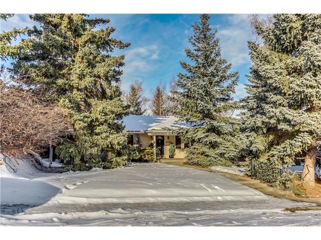 Nestled in the heart of one of Calgary's most desired neighbourhoods, this bright & spacious 3 bed, 3 bath bungalow is located on a heavily-treed 65? x 130? lot, on one of the quietest streets in Britannia. This property has been well maintained by its long time owners, and ideally suited to new owners looking to move in & enjoy, undertake a home renovation project or build their dream home. At 2,145 sq ft + a fully developed basement, the main floor offers a welcoming foyer dividing the spacious living & dining room areas, family room overlooking the private rear yard, huge kitchen w/loads of cabinetry, central island, multiple built-ins & sunny breakfast nook. All the bedrooms are oversized, each with their own bathroom & generous closet spaces. The fully developed basement includes a huge rec room w/wood burning fireplace, separate office space, guest room, bathroom, workshop, cold storage & loads of additional storage. Massive rear yard, wood deck & double detached garage...this home is a must see!