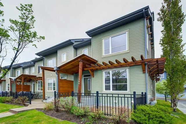 Beautiful end unit in sought after Calgary lake community of Chaparral! This unit offers beautiful separate living, kitchen, and dining areas on the main floor. Walk into beautiful hardwood flooring throughout the kitchen and dining area. Fireplace located in large bright family room creates a cozy atmosphere on the cold winter months. Upper floor offers built in cabinetry in the hallway, 3 large bedrooms and 4 piece washroom. Master bedroom is very large and can easily accommodate a king sized bedroom set. Large closet and ensuite bathroom with glass shower truly make this a master bedroom an excellent space! Basement is unfinished and offers lots of opportunity to develop it into additional living space. Enjoy low condo fees and year round lake privileges with this great property!