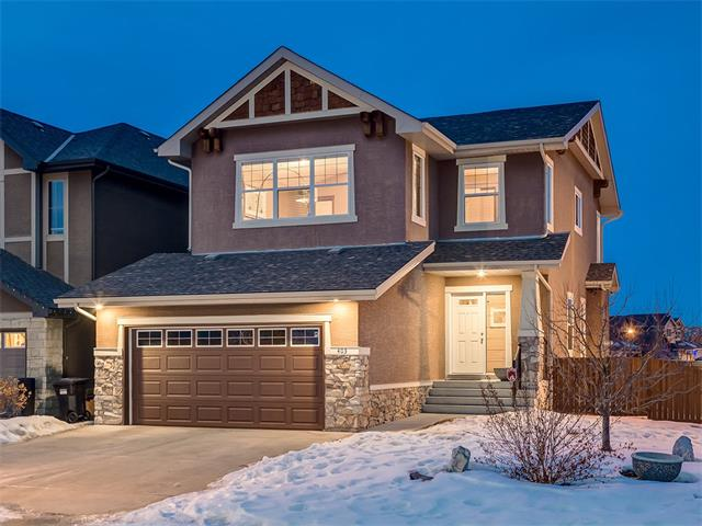 GORGEOUS ESTATE HOME, Done TOP TO BOTTOM!  LOCATED in a QUITE CUL-DE-SAC on a HUGE 513 SQ FT INSIDE CORNER LOT (no shoveling!) w/RV PARKING potential + OVER 3061 SQ FT W/BREATHTAKING VIEWS OF BOW VALLEY RAVINE Literally ACROSS THE STREET! ENJOY 9' + 10' CEILINGS, HARDWOOD, Main flr OFFICE off Foyer, WARM Cabinetry, SS APPL w/NEW D/W, GRANITE Counters + ISLAND w/built-in SHELVING, WINE RACK, POT LIGHTING, MOSAIC TILE B-SPLASH, HUGE WALK-THRU PANTRY, Main Flr Laundry, SUNNY Living rm w/TILE SURROUND, GAS F/P + MANTLE, DINING area SURROUNDED BY WINDOWS, access to 2 TIER deck w/PHANTOM SCREEN + 1/2 bath. Upstairs is a LGE BONUS rm w/VAULTED Ceiling + SPECTACULAR VIEWS of COP + DOWNTOWN, 3 SPACIOUS bdrms, 4pc main bath, 4pc EN-SUITE off GREAT MASTER, W/C closet + add'l storage.  Bsmt is complete w/Large REC rm, 4pc bath, potential 4th bdrm (sans window), GYM w/RUBBER flr, CUSTOM Built-in w/Electric F/P, RI for BAR area, + Newer HIGH EFF Furnace.  FUN all YEAR, w/TUSCANY CLUB HOUSE, Skating, Wading Pool, WOW!!!