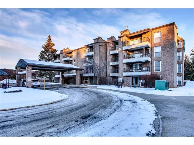 PRICE REDUCED to Sell. Welcome to this spacious 690+ sq ft, One Bedroom condo in Braeside. Well managed Concrete Building. This cozy but large unit has a roomy entrance way, large functional kitchen, slightly open to the dining room and living room. Plenty of clean white cabinets. Fridge (2012). Stove (2012).  Dishwasher (2012) Washer and Dryer (2011).  Upgraded dining room light fixture (2017).  Upgraded Beautiful vinyl plank flooring with the look of hardwood (2017). Complimentary neutral wall colour. Large sectional fits easily in the spacious living room. Sliding glass doors allows for lots of natural light. The west facing balcony also has a gas BBQ hook up. Master Bedroom fits a queen or king bed. Furnace too, allowing you to regulate the heat in your suite. In suite laundry. Heated underground parking. Extra storage locker. Gated condo complex. Private secure treed outdoor courtyard. Steps to the Southland Leisure Center, transit along Southland Drive, a gym, and a mall. Move in Ready.