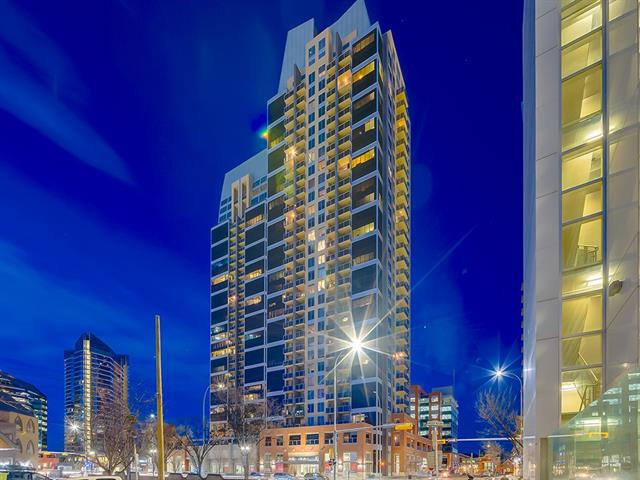 LIVE in the HEART OF the CITY! IMMACULATE 1 bdrm suite w/OVER 526 sq ft is situated on the 7th FLOOR of the STUNNING ALURA Building featuring TONS of AMENITIES incl: STATE OF THE ART GYM, Private Courtyard Lounge + Business Center, FULL AC, 24Hr CONCIERGE + SECURITY, TITLED UNDERGROUND PARKING + ASSIGNED STORAGE! CENTRALLY located in the EXCITING BELTLINE area w/EASY ACCESS to the LRT (Stampede Station), SADDLEDOME, Shops + Restaurants on 17th AVE, REXALL ATHLETIC CENTER, City Parks + MORE!!! LRG Foyer w/MIRRORED Closet, UPGRADED Flooring + Finishes throughout, STYLISH KITCHEN w/ESPRESSO Cabinets, LOTS of STORAGE, UPGRADED STAINLESS STEEL APPL's, FULL STONE B-Splash, MODERN lighting, QUARTZ COUNTER TOP w/B-FAST Bar, SPACIOUS Living rm w/ACCESS to the PRIVATE BALCONY w/AMAZING CITY VIEWS you can also ENJOY in the COZY MASTER bdrm w/ DUAL Blackout roller SHADES + LRG Closet! The suite also has a 4 pc Bath w/TILE FLOOR's + TILE B-SPLASH, a LINEN Closet, HANDY In-Suite LAUNDRY + FURNACE Closet! VIEW TODAY!!!