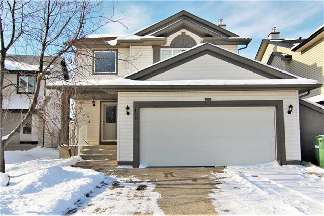 Open House Sat 1-4pm. Beautiful home in the great neighbourhood of Fairways! This fantastic family home is on a quiet street and offers a great space for your family...plus it's perfect for surviving Alberta winters! The garage is heated...keeping your vehicles toasty warm! The basement features in floor heating in the bedroom, bathroom and great room. The fully fenced yard features underground sprinklers, and an awning covered deck (no maintenance decking and rails). The kitchen offers both bar seating at the island and a breakfast nook spacious enough for a large family table. You'll love the open floor plan of the main floor...perfect for entertaining! The upper level features a Master Suite complete with vaulted ceiling, his and hers closets and an ensuite with a jetted tub AND an oversized shower! Two good sized kids bedrooms and another full bath PLUS a laundry room complete the upper level. The basement is fully developed and offers a 4th bedroom bath, an office and a spacious great room!