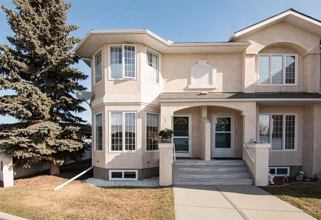 Welcome to this 3 bedroom, 2.5 bathroom, FULLY FINISHED End unit in a quiet 35+ Adult Living Complex! It is located in the Heart of Cochrane, walking distance to all of the Shopping and Amenities that downtown Cochrane has to offer! This is an End Unit with South/West exposure offering TONS of Natural light, and is situated in a Quiet area of Town! Step into the Bright Open Living Space with Bay Window, Newer laminate flooring and cozy gas fireplace with Tile and Rich Wood mantle, highlight but spacious Bay window. The kitchen is a chef?s dream, with newer Upgraded Stainless appliances, center island with Eat-up bar, generous counter space and storage. The Bright dining area has huge windows and leads to the private 10' x 15' rear deck. Upstairs you will find Newer Carpet & crest paint. The master bedroom w/ walk in closet, another bright Bay Window and a three piece ensuite. Two additional Bedrooms with a 4 Pc bathroom with a double shower head & window for you to enjoy!